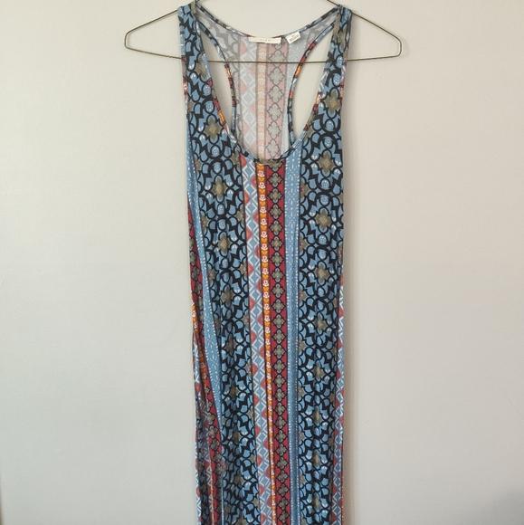 3/$20 - Long Boho Print Maxi Dress